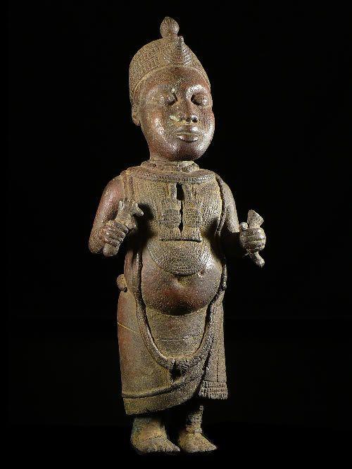Statuette de Roi / Oni - Bini Edo - Benin - Bronzes du Benin