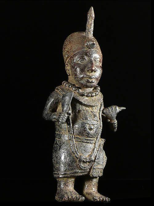 Statuette de roi - Bini Edo - Benin - Bronzes du Benin