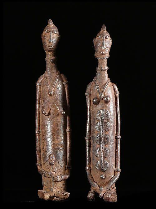 Couple de statuettes en bronze - Dogon - Mali