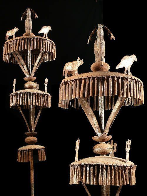 Autel portatif Asen en fer noir - Yoruba - Benin / Nigeria