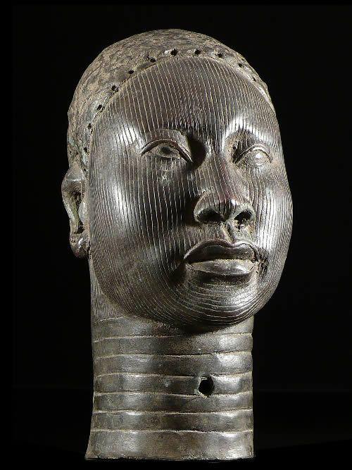 Tete d'oba - Ile Ife - Bini Edo - Benin - Bronzes anciens