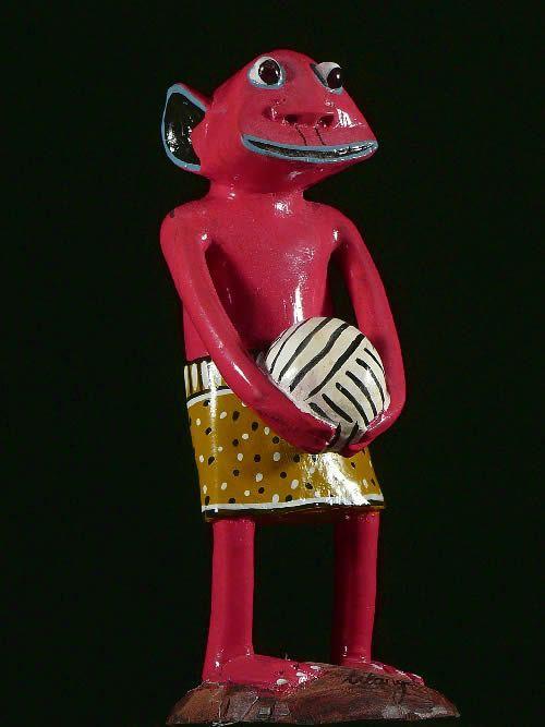 Sculpture Shetani Balle - George Lilanga - Makonde