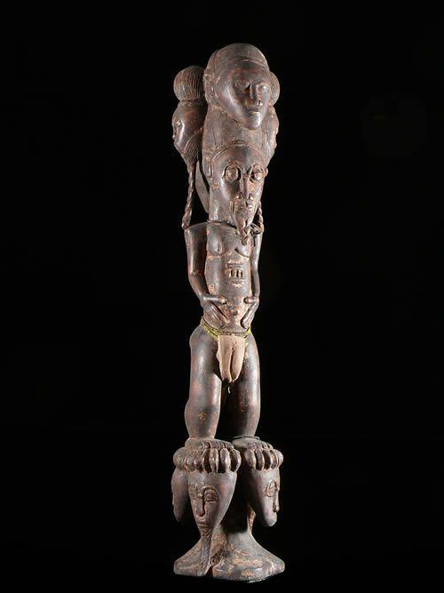 Statue autel ancetre royal - Blolo Bla - Baoule - Côte d'Ivoire