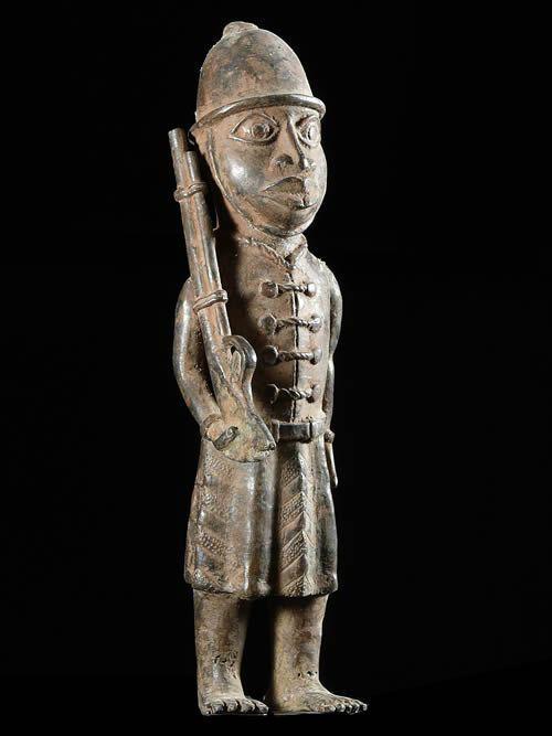 Mousquetaire Portuguais - Bini Edo - Benin - Bronzes du Benin