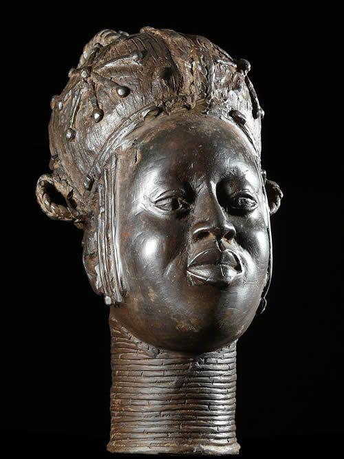 Tete de reine - Bini Edo - Benin - Bronzes du Benin