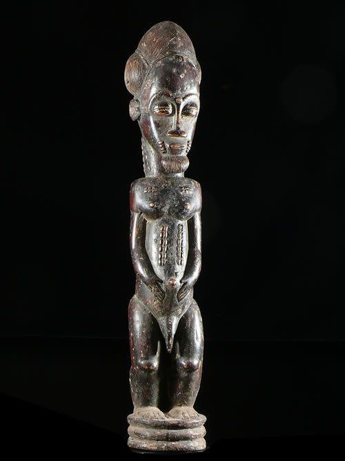 Statue masculine epoux mystique blolo bian - Baoule - Cote D'ivoire