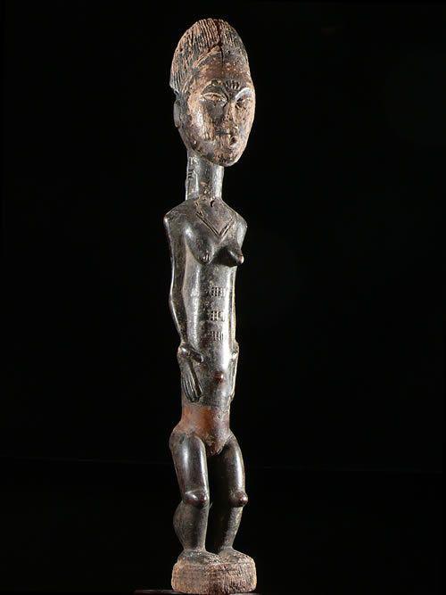Statue feminine epouse mystique Blolo Bla - Baoule - Côte d'Ivoire