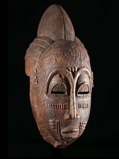 Masque Casque Kpan Goli - Baoule - Côte d'Ivoire - Masques africai