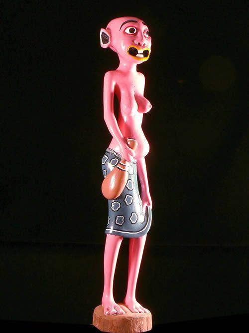 Sculpture Shetani Rose - Agostino Malaba - Makonde