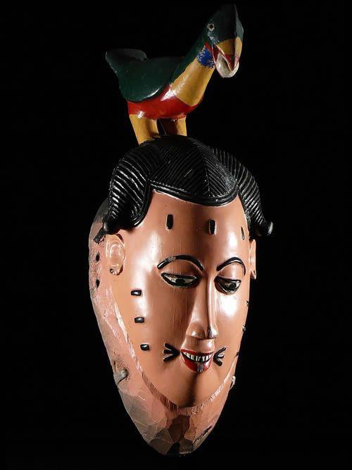 Masque Polychrome Seli - Gouro - Côte d'Ivoire