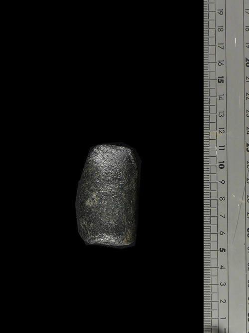 Hache polie meteorite noire - Sahara Mauritanien - Neolithique