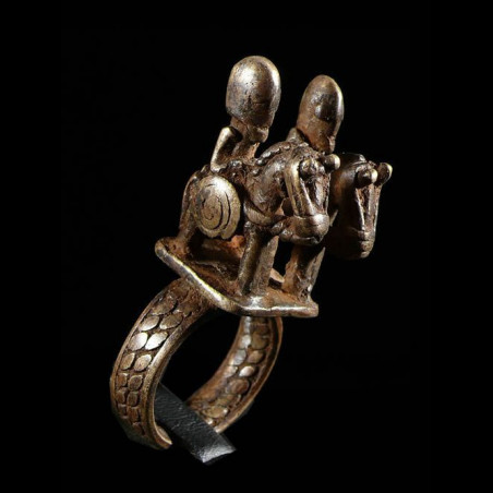 Bague amulette cavalier -...