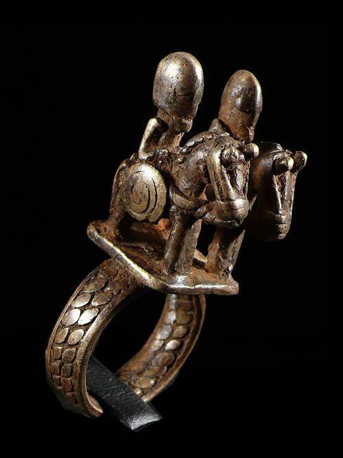 Bague amulette cavalier - Dogon - Mali
