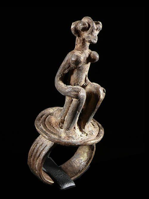 Bague amulette personnage - Bambara - Mali