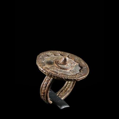 Bague amulette tortue -...