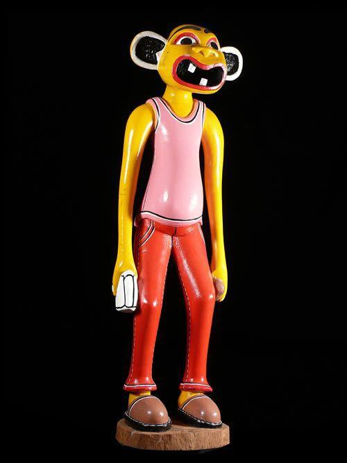 Sculpture Shetani - George Lilanga - Makonde