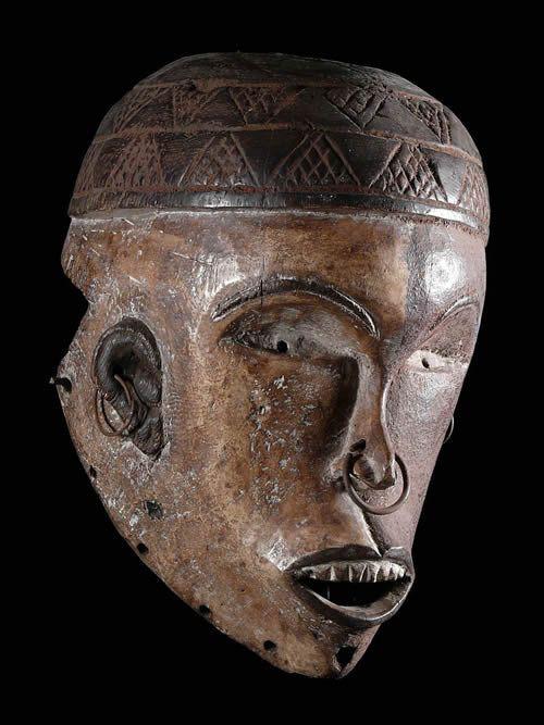 Masque portrait - Kongo Yombe - RDC Zaire