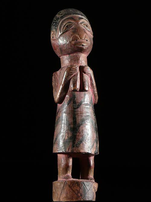 Statuette polychrome de reine - Yoruba / Nago - Benin