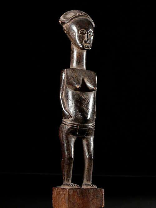 Statuette de reine - Baoule / Khode - Côte d'Ivoire