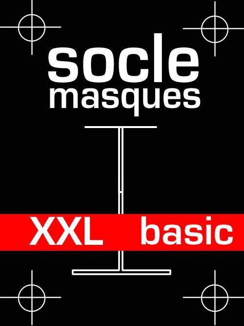 Socle masque basic en bois et acier - taille XXL