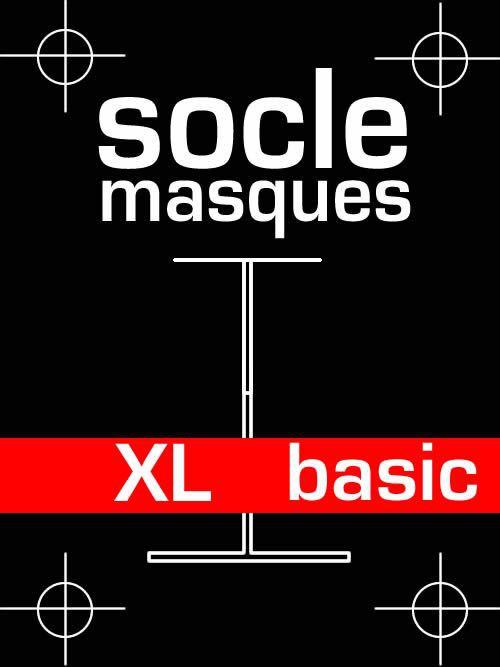 Socle masque basic en bois et acier - taille XL
