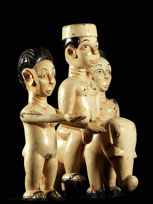 Trio de figurines autel vaudou - Ewe - Togo - Culte Vaudou