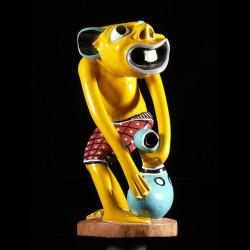 Sculpture Shetani jaune -...