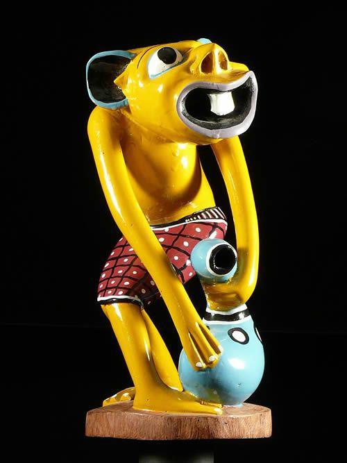 Sculpture Shetani jaune - George Lilanga - Makonde