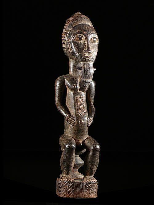 Statue intronisation de roi - Baoule - Côte d'Ivoire