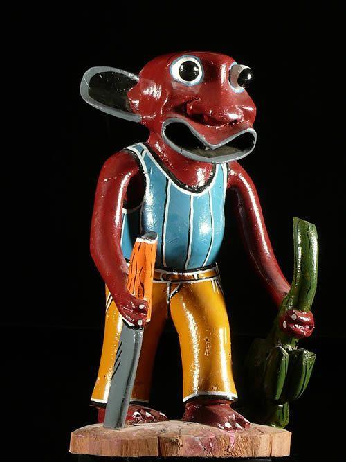 Sculpture Shetani Coupeur de bananes - George Lilanga - Makonde