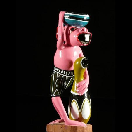 Sculpture Shetani Porteur...