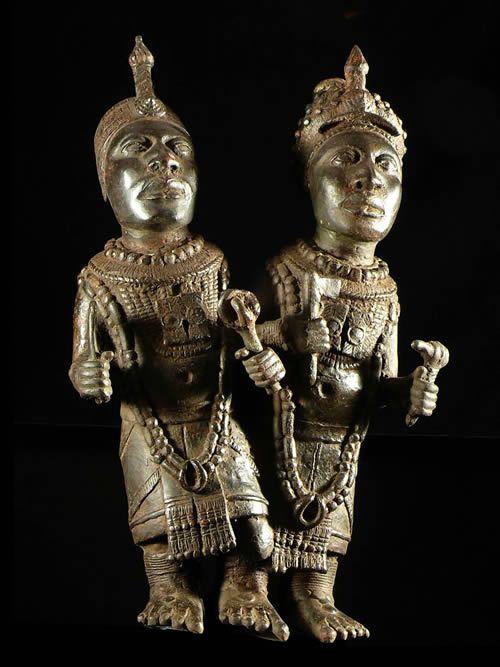 Couple Royal - Bini Edo - Benin - Bronzes du Benin