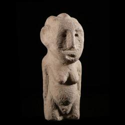 Stele funeraire en pierre -...