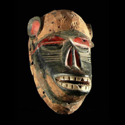 Masque singe polychrome -...