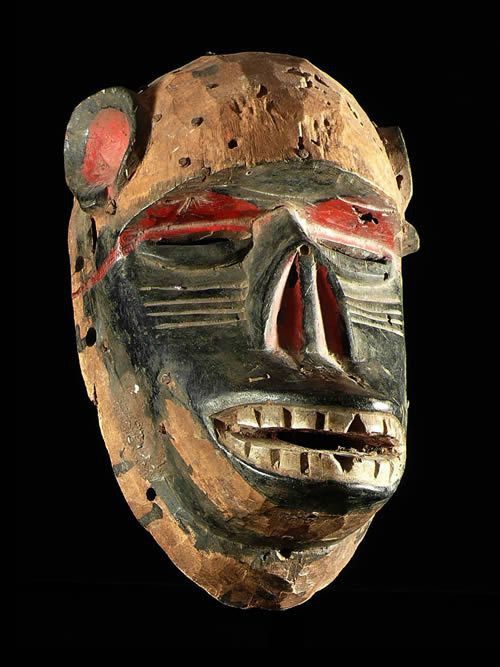 Masque singe polychrome - Idoma - Nigeria
