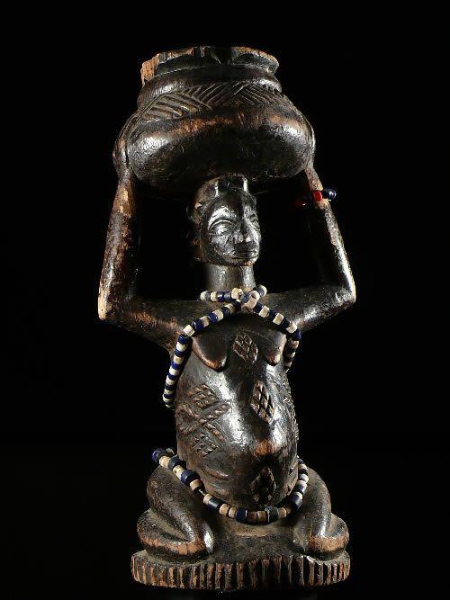 Statuette de fertilite - Luba / Baluba - RDC Zaire