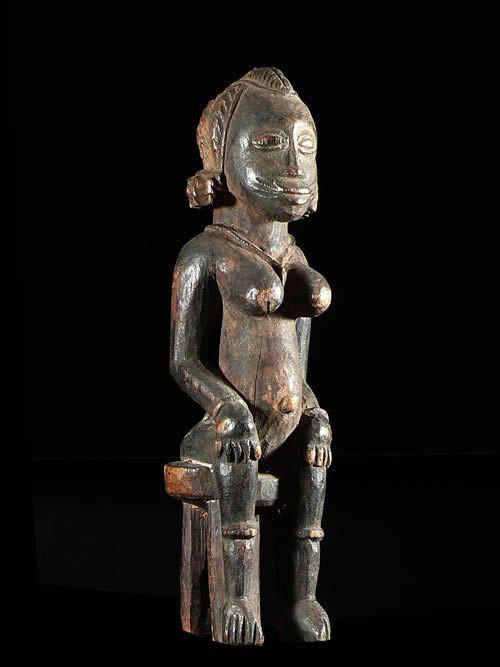 Statuette rituelle fertilite - Tagwana / Senoufo - Côte d'Ivoire