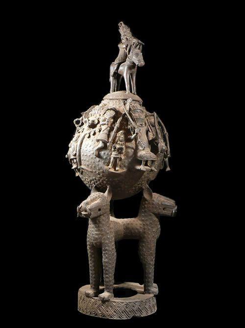 Composition en bronze - Bini Edo - Benin - Bronzes du Benin