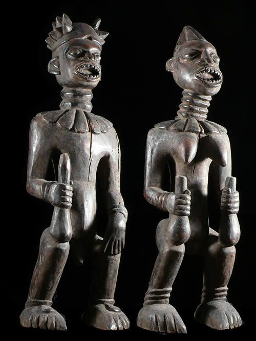 Statues ancetres royaux - Bamileke / Bangwa - Cameroun