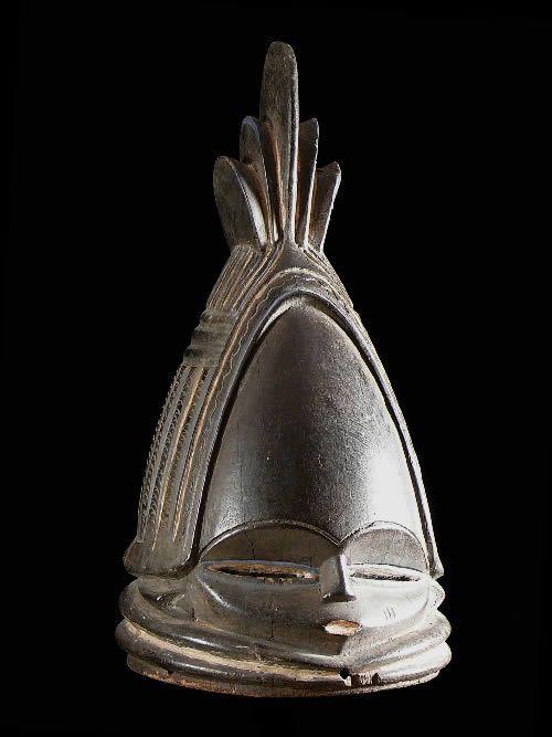 Masque casque Sowei Sande - Mende Vai - Sierra Leone