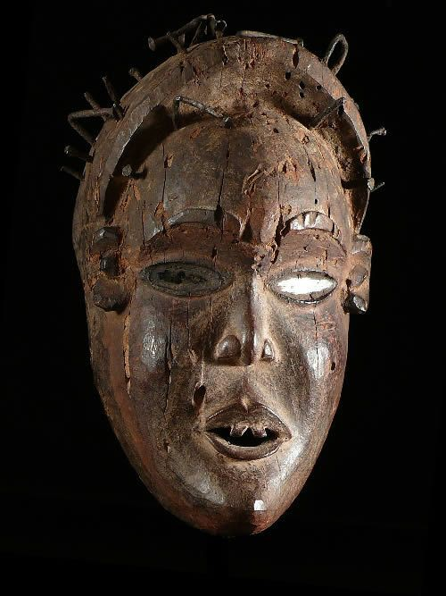 Masque rituel fétiche - Kongo Yombe - Rdc Zaire