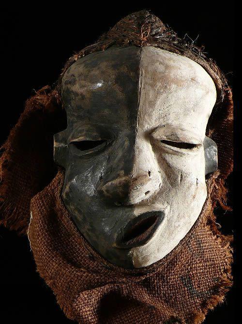 Masque Mpangu / Mbangu de maladie - Pende - RDC Zaire