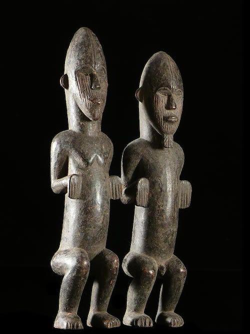 Couple de Statuettes pour Autel - Igala - Nigeria