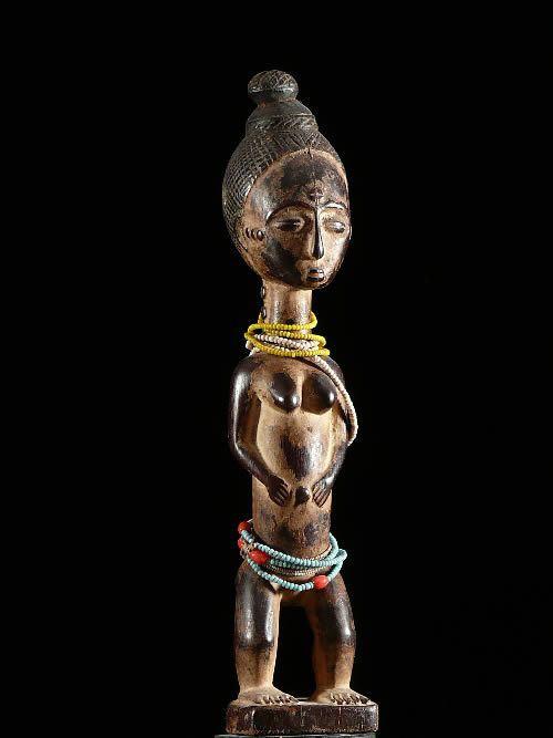 Statuette de reine - Attie - Côte d'Ivoire