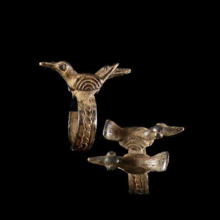 Bague amulette oiseaux -...