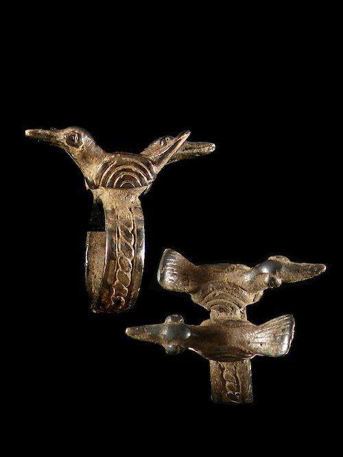 Bague amulette oiseaux - Lobi - Burkina Faso