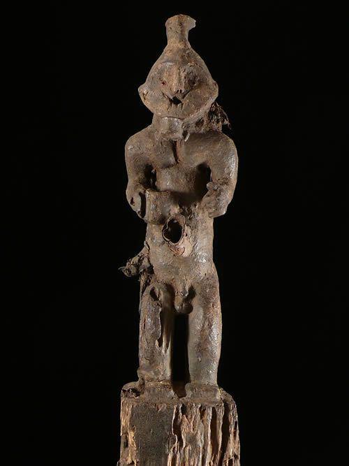 Statue Poteau Anthropomorphe - Mambila - Cameroun