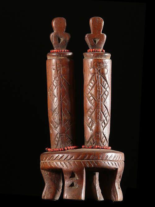 Poupee jumeaux rituelle - Tabwa - RDC Zaire- Poupees africaines