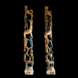 Statuette autel Gelede -...