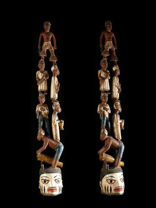 Statuette autel Gelede - Yoruba - Nigeria